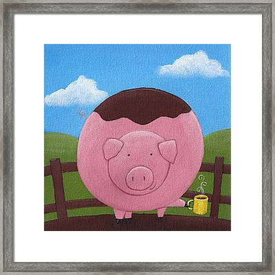 Pig Nursery Art Framed Print by Christy Beckwith