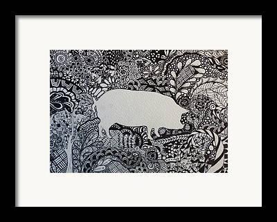 Pigatopia Framed Prints