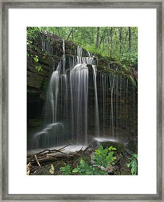 Pig Trail Falls Mulberry River Arkansas Framed Print by Tim Fitzharris