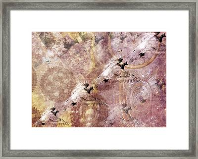 Pigeon Flying Away Framed Print by Tommytechno Sweden
