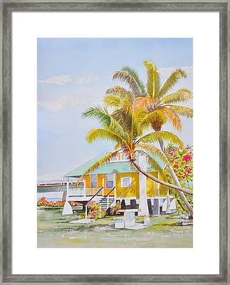 Pigeon Key - Home Framed Print by Terry Arroyo Mulrooney