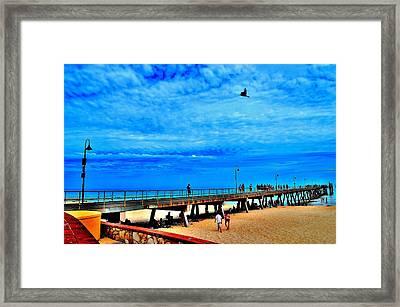 Pigeon Pier - Glenelg Beach - Australia Framed Print