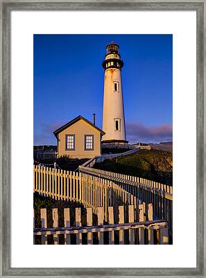 Pigeon Point At Sunset Framed Print by Garry Gay