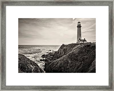 Pigeon Point Light Framed Print by Heather Applegate