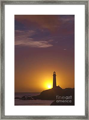 Pigeon Point Lighthouse 2 Framed Print by Theresa Ramos-DuVon