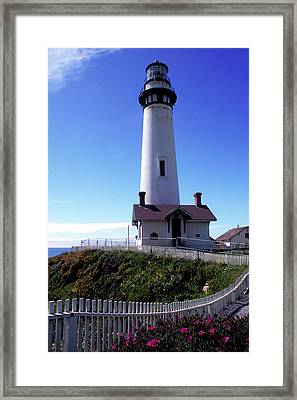 Pigeon Point Lighthouse 3 Framed Print by Kathy Yates