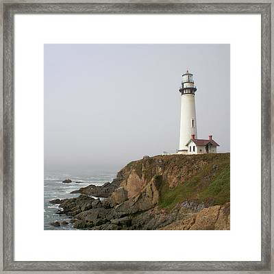 Pigeon Point Lighthouse Framed Print by Art Block Collections