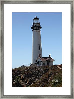 Pigeon Point Lighthouse In The Coast Of California 5d28258 Framed Print by Wingsdomain Art and Photography