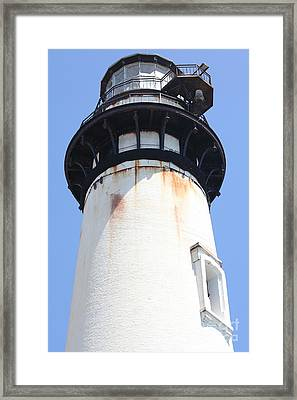 Pigeon Point Lighthouse In The Coast Of California 5d28263 Framed Print by Wingsdomain Art and Photography