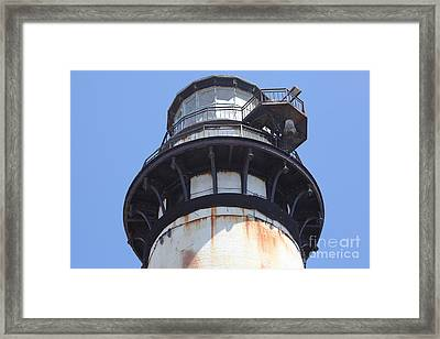 Pigeon Point Lighthouse In The Coast Of California 5d28264 Framed Print by Wingsdomain Art and Photography