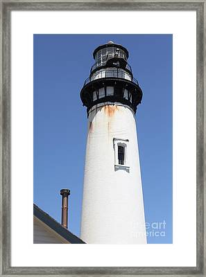 Pigeon Point Lighthouse In The Coast Of California 5d28273 Framed Print by Wingsdomain Art and Photography