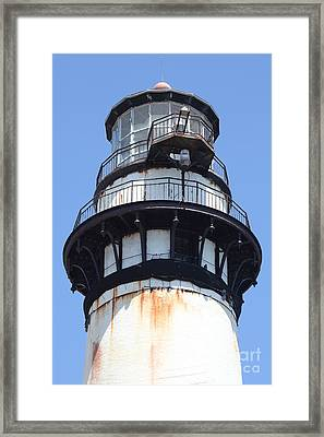 Pigeon Point Lighthouse In The Coast Of California 5d28274 Framed Print by Wingsdomain Art and Photography