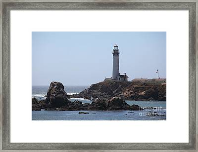 Pigeon Point Lighthouse In The Coast Of California 5d28280 Framed Print by Wingsdomain Art and Photography