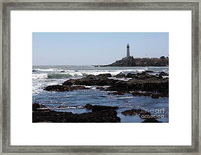 Pigeon Point Lighthouse In The Coast Of California 5d28291 Framed Print by Wingsdomain Art and Photography