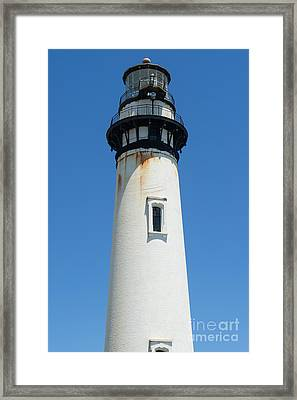 Pigeon Point Lighthouse In The Coast Of California Dsc1270 Framed Print by Wingsdomain Art and Photography