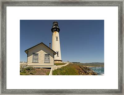Pigeon Point Lighthouse In The Coast Of California Dsc1296 Framed Print by Wingsdomain Art and Photography