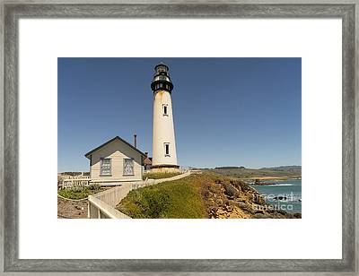 Pigeon Point Lighthouse In The Coast Of California Dsc1297 Framed Print by Wingsdomain Art and Photography