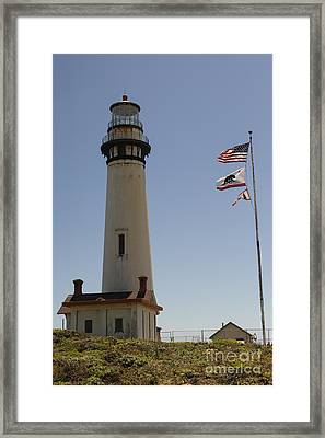 Pigeon Point Lighthouse In The Coast Of California Dsc1299 Framed Print by Wingsdomain Art and Photography