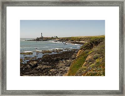 Pigeon Point Lighthouse In The Coast Of California Dsc1307 Framed Print by Wingsdomain Art and Photography