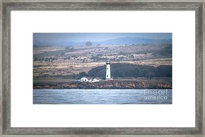 Pigeon Point Lighthouse Framed Print by Mitch Shindelbower