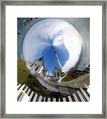 Pigeon Point Lighthouse Polar View Framed Print