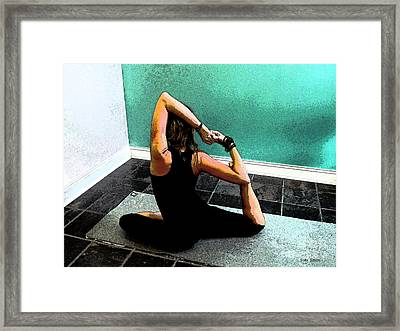 Pigeon Pose Variation Framed Print