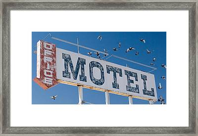 Pigeon Roost Motel Sign Framed Print by Scott Campbell