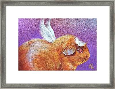 Piggie Angel Framed Print by Elena Kolotusha