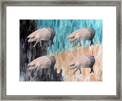 Piggies Framed Print by Patrick J Murphy