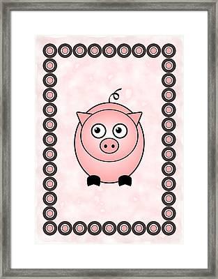 Piggy - Animals - Art For Kids Framed Print by Anastasiya Malakhova