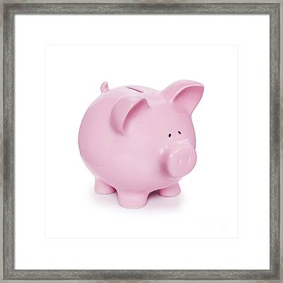 Piggy Bank  Framed Print by Colin and Linda McKie