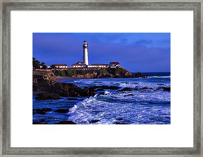 Pigion Point Light House Framed Print by Garry Gay