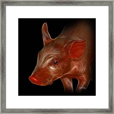 Piglet 1716 F Framed Print by James Ahn