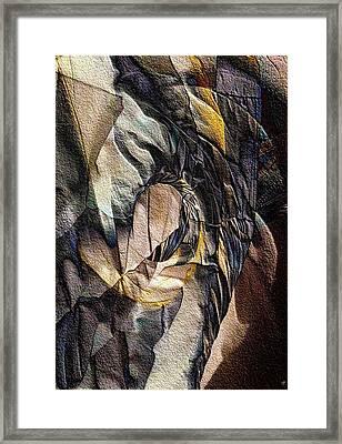 Pigmented Sandstone Framed Print