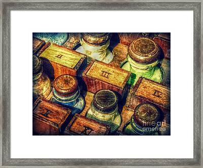 Framed Print featuring the digital art Pigments by Valerie Reeves