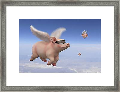 Pigs Fly 1 Framed Print by Mike McGlothlen