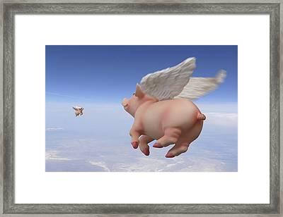 Pigs Fly 2 Framed Print