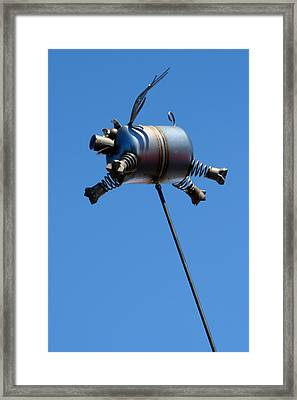 Pigs Fly Framed Print by Joe Kozlowski
