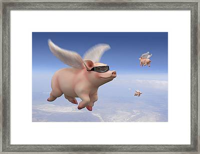 Pigs Fly Framed Print by Mike McGlothlen