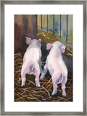 Pigtails Framed Print by Marsha Elliott