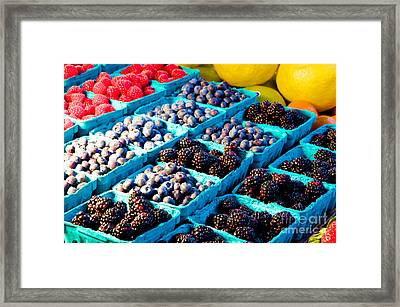 Framed Print featuring the photograph Pike Place Blacks N' Blues by Vinnie Oakes
