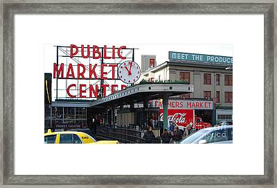 Pike Place Market Center Framed Print