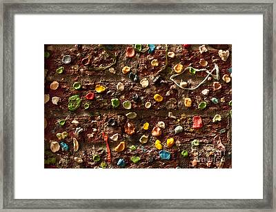 Pike Place Market Gum Wall In Alley Framed Print