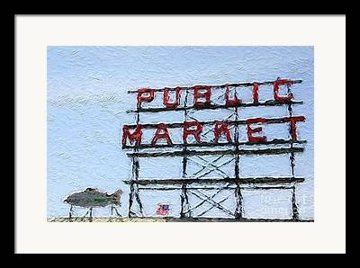 Pike Place Market Framed Prints