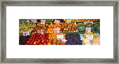 Pike Place Market Seattle Wa Usa Framed Print by Panoramic Images