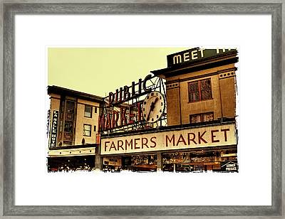 Pike Place Market - Seattle Washington Framed Print