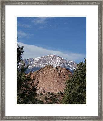 Pikes Peak 2 Framed Print by Ernie Echols