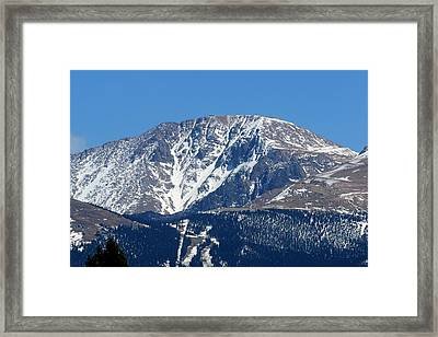 Pikes Peak Close-up Framed Print by Marilyn Burton