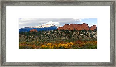 Pikes Peak Fall Pano Framed Print