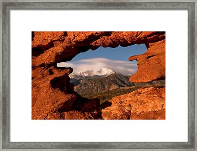 Pikes Peak Framed Framed Print